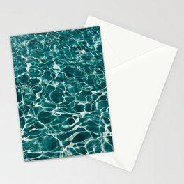 SEA - blue , white ocean , waves , clear , clarity Stationery Cards