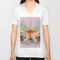 surfboard V-neck T-shirts featuring Surfing, sunglasses with surfboard  by nicky2342