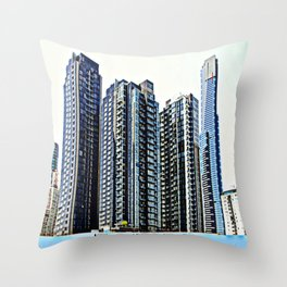 Melbourne CBD Throw Pillow