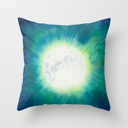 Full Moon Bright Throw Pillow