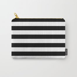 Black White Stripe Minimalist Carry-All Pouch