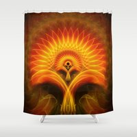 tree of life Shower Curtains featuring Life Tree by Christine baessler