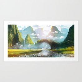 Between Mountains Art Print