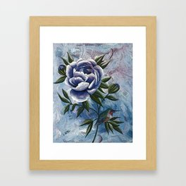 Peony Twilight Remix Framed Art Print