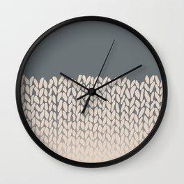 Half Knit Ombre Nat Wall Clock