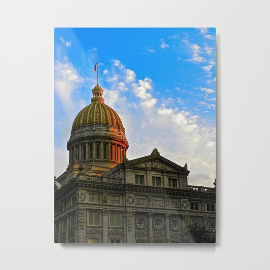 Sunset on the Courthouse Metal Print