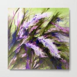 Pampas Grass 1f by Kathy Morton Stanion Metal Print