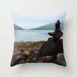 Acadia Cairn Throw Pillow