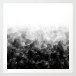Ombre Smoke Clouds Minimal Art Print