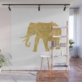 Gold Mandala Elephant Wall Mural
