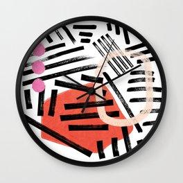 Brush Stroke Study — Hella Abstract Wall Clock