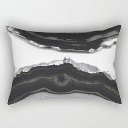 Gray Black Agate #5 #gem #decor #art #society6 Rectangular Pillow