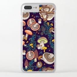 Dark dream forest Clear iPhone Case
