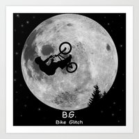 gta Art Prints featuring GTA Bike Glitch by JOlorful