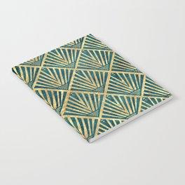 Stylish geometric diamond palm art deco inspired Notebook