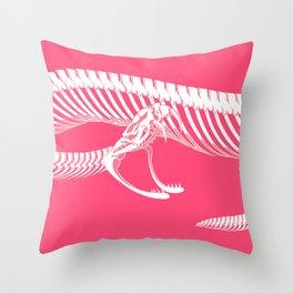 Pink Bite Throw Pillow