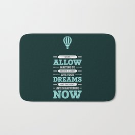 Lab No. 4 Live Your Dreams Life Inspirational Quote Bath Mat