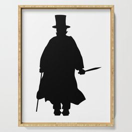 Jack the Ripper Silhouette Serving Tray