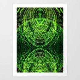 Acidic Alien - Green Art Print
