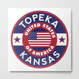 Kansas, TOPEKA Metal Print