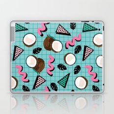 More Coconuts tropical summer vibes memphis abstract pattern print design by wacka Laptop & iPad Skin