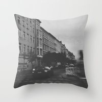 berlin Throw Pillows featuring Berlin by Jane Lacey Smith