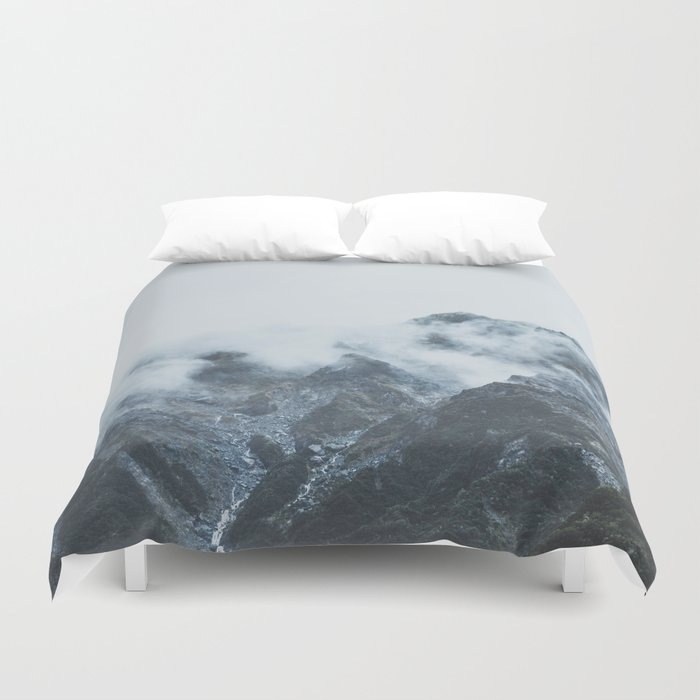 Stormy New Zealand Duvet Cover