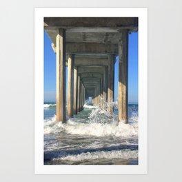 La Jolla Pier Art Print
