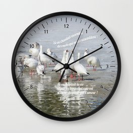 Les Oies Blanches : Si On Chantait - The White Geese : If We Sing Wall Clock