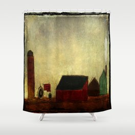 Americana Barnyard with Tractor Shower Curtain