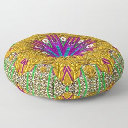 Golden retro medival festive fantasy nature Floor Pillow