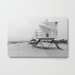 Lifeguard Station number 2 Metal Print