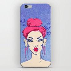 Selfie girl_3 iPhone Skin
