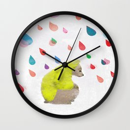 rainy day dream away Wall Clock