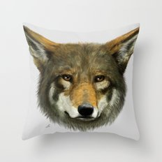 Wolf face Throw Pillow
