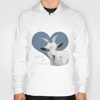 totes Hoodies featuring Totes Ma Goats - Green Wallpaper by BACK to THE ROOTS