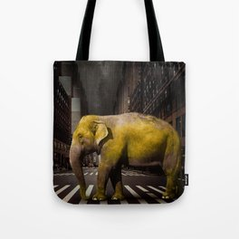 Elephant in New York Tote Bag
