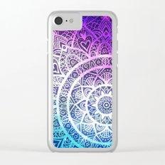 Space mandala 13 Clear iPhone Case