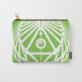 Radiant Abundance (green-white) Carry-All Pouch