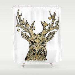 Hirsch gold Shower Curtain