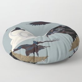 Invasion of the Crows Floor Pillow