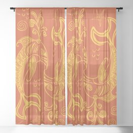 Dolphin Love Sheer Curtain