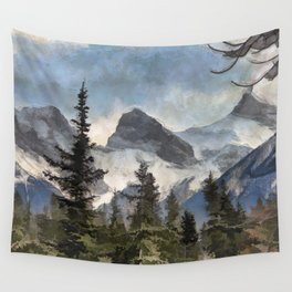 The Three Sisters - Canadian Rocky Mountains Wall Tapestry