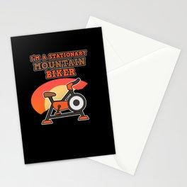 Stationary Mountain Bike Cyclist Pedelec Ebike Fan Stationery Cards