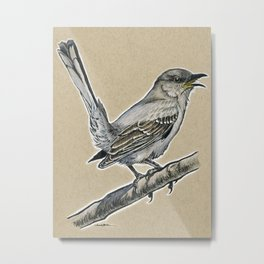 State Bird Series: Texas - Northern Mockingbird Metal Print