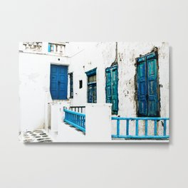 Out of the Blue | Mykonos, Greece Metal Print