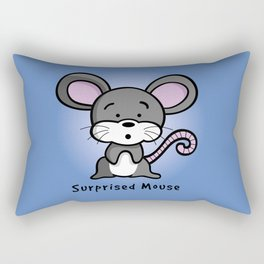 Surprised Mouse Rectangular Pillow