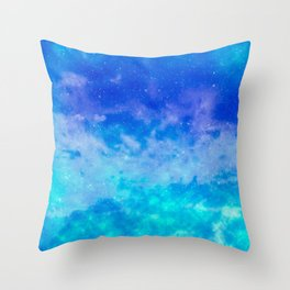 Sweet Blue Dreams Throw Pillow