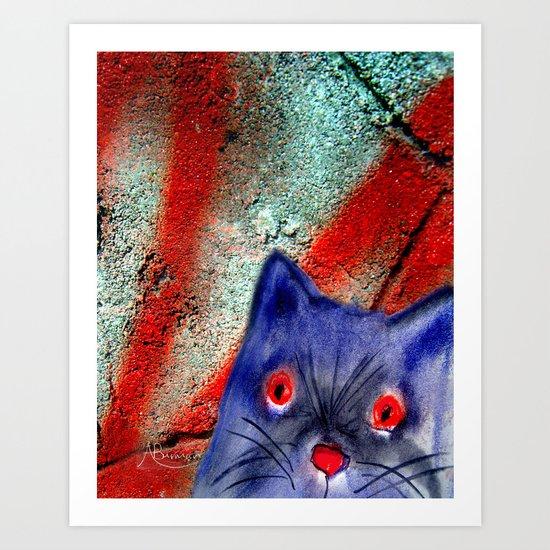 Gordon The Graffiti Cat Art Print