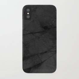 Dark Grey Marble iPhone Case
